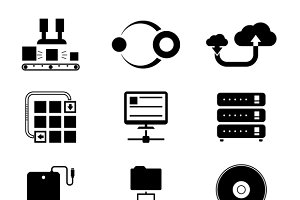 Storage and Data Transfer Icons
