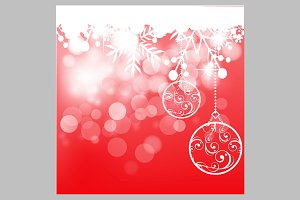 Christmas light holiday background
