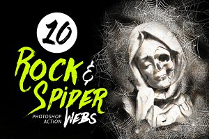 10 Rock & Spider Webs Photo Effect