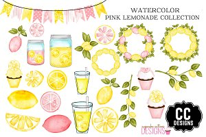 Watercolor Pink Lemonade Collection