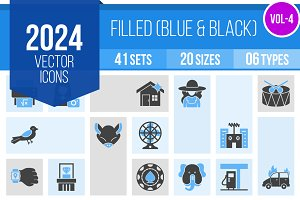 2024 Vector Blue & Black Icons (V4)
