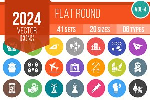 2024 Vector Flat Round Icons (V4)