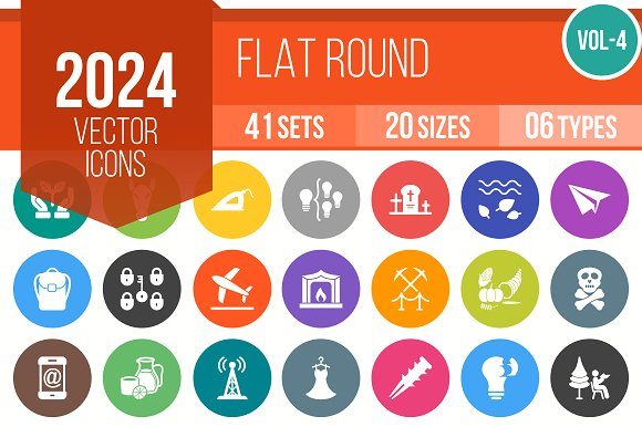 2024 Vector Flat Round Icons