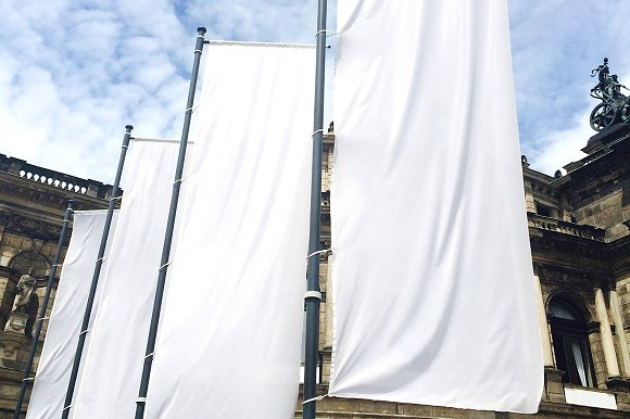 Lamp Post Banner Mock-up