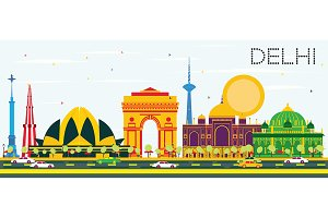 Delhi India Skyline