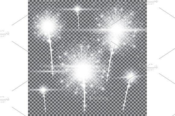 Fireworks On Transparent Background