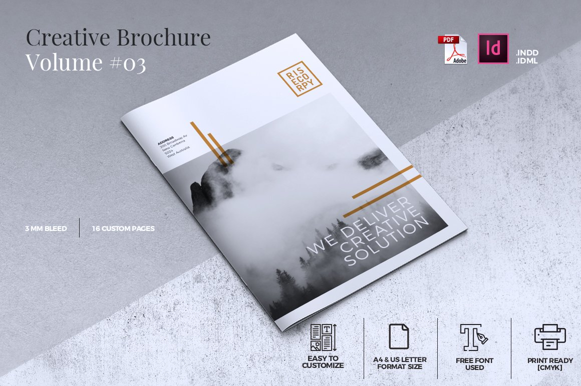 Creative brochure template vol 03 brochure templates for Creative brochure templates free