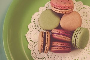 Macarons on Green