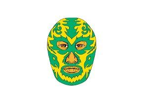 Luchador Mask Flame Fire Bolt