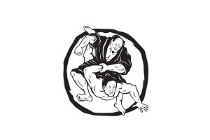 Samurai Jiu Jitsu Judo Fighting
