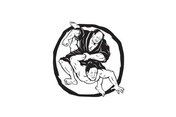Samurai Jiu Jitsu Judo Fighting