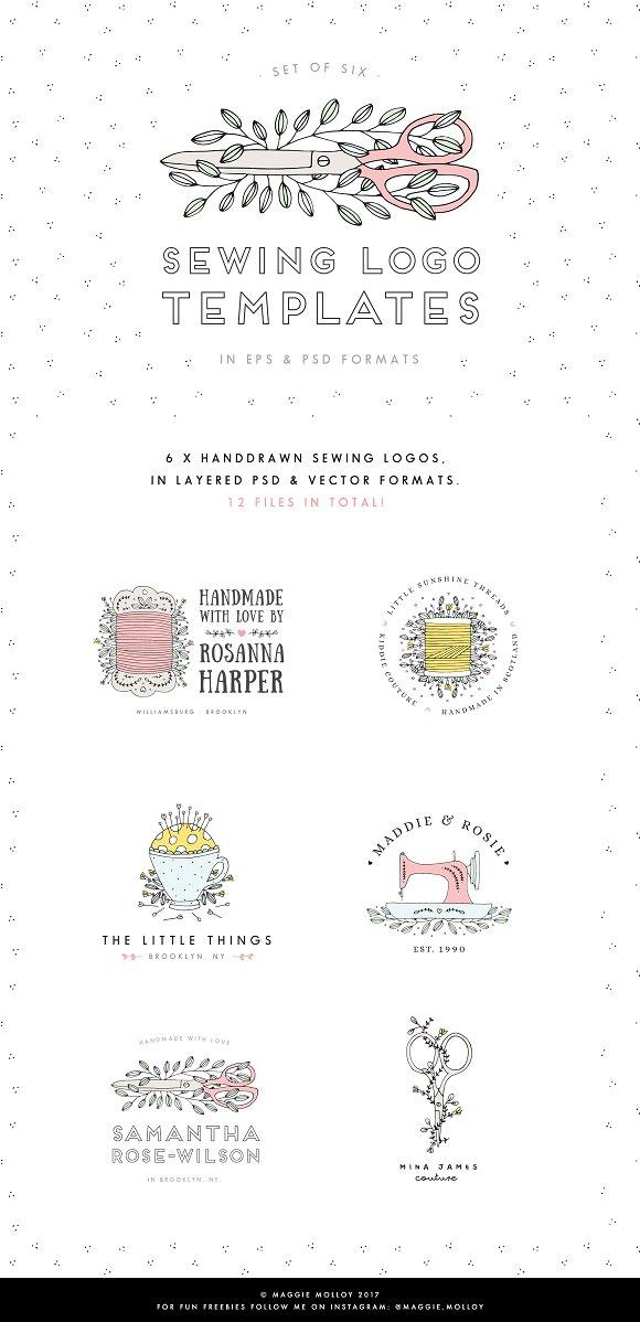 Sewing Logo Templates