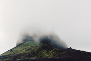 Mountain with Moss in the Clouds