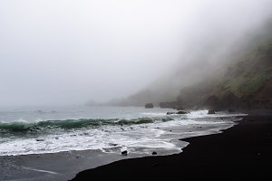 Dark Dramatic Seascape with Waves