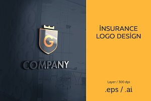 Insurance, Real estate logo template