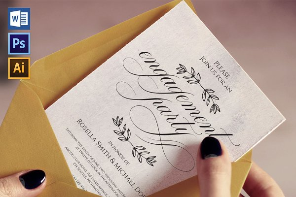 Invitation Templates - Engagement Party Invitation Wpc223