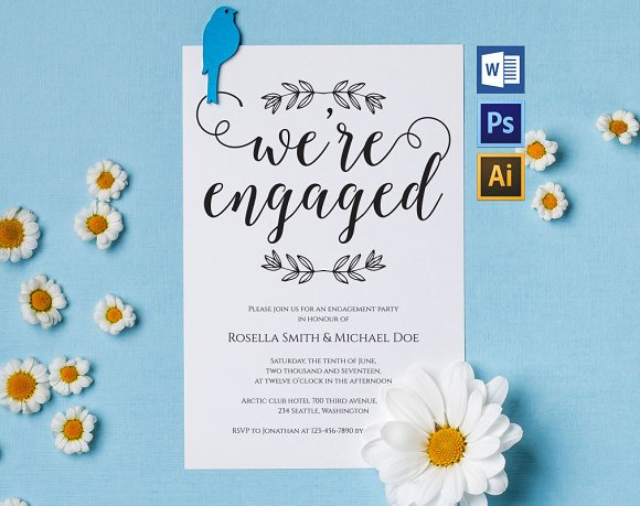 Engagement Party Invitation Wpc229