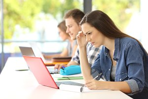 Concentrated student e-learning