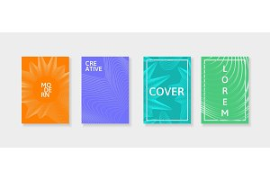 Covers with geometric lines. Applicable for Banners, Placards, Posters and Flyers.