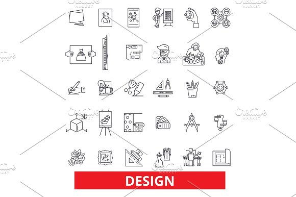 Design layout plan cover outline presentation style design layout plan cover outline presentation style blueprint development line icons editable strokes flat design vector illustration symbol malvernweather Image collections