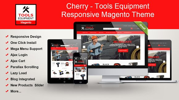 Tools Equipment Responsive Magento