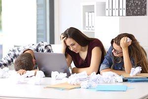 Three frustated entrepreneurs
