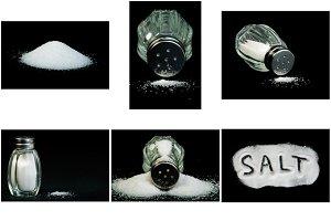 Word Salt, saltshaker and salt
