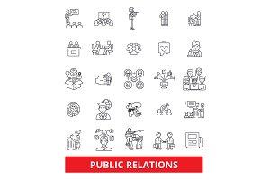 Publicity, public relations icons