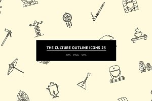The Culture Outline Icons 25