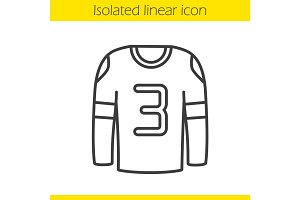 Hockey player's shirt linear icon