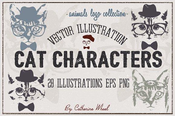 Vector Cat Illustrations.Animals