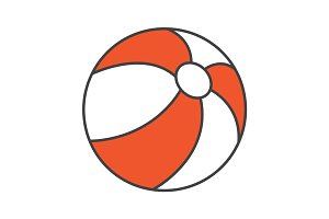 Beach ball color icon