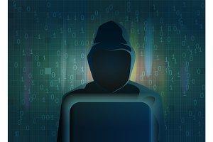 Hacker dark silhouette