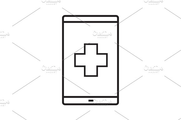 Smartphone Medical App Linear Icon