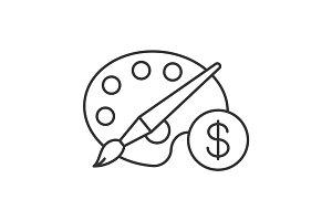 Buy art equipment linear icon