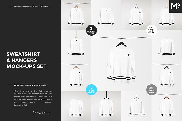 Sweatshirt Hangers Mock-ups Set