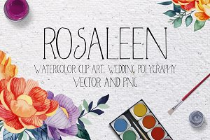 Rosaleen wedding invitation kit