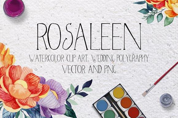 Rosaleen wedding invitation-Graphicriver中文最全的素材分享平台