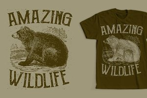Amazing Wildlife T-Shirt Design