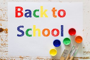 Back to school background concept with stationary