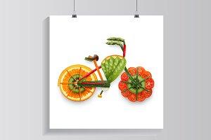 Fruity e-bike.