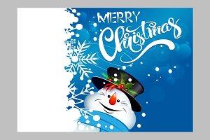 christmas snowman, christmas card