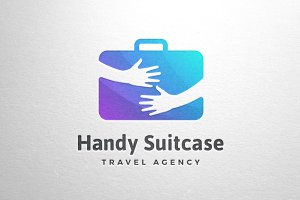 Handy Suitcase Travel Logo Template