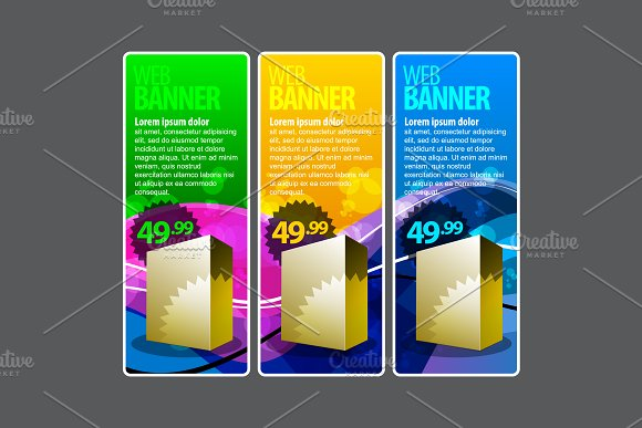 Abstract Color Banners