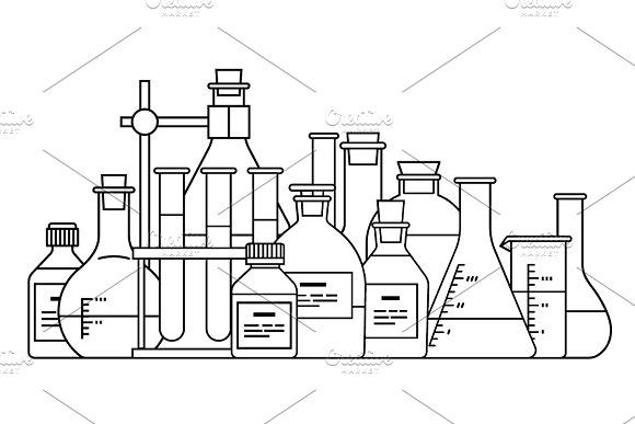 Chemical Glassware Icon