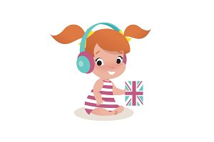 little girl child illustration