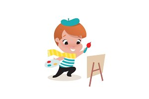 little child boy illustration
