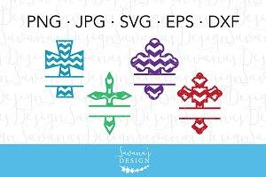Monogram Cross SVG
