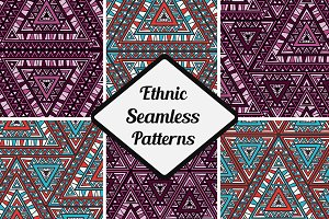 12 Vector Seamless Patterns