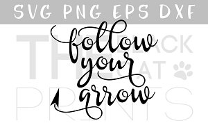 Follow your arrow SVG PNG EPS DXF